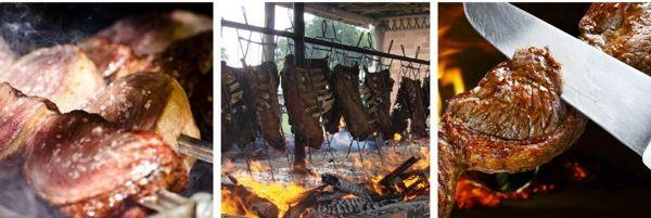 CHURRASCO (BRAZIL) Originally a Brazilian rustic BBQ, this festive tradition typically consists of
