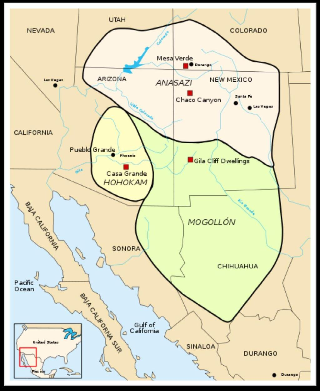 Three groups dominate the oldest period of North American prehistory: The