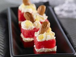 Patriotic Petits Fours When we're feeling patriotic, nothing is more all-american than a refreshing slice of watermelon!