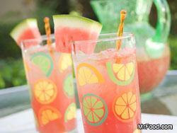 Watermelon Lemonade Luscious and rich tasting, our easy blender Watermelon Lemonade recipe is sure to quench even the biggest thirst.