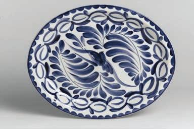 Rolled Edge Oval Platter 13 1/2