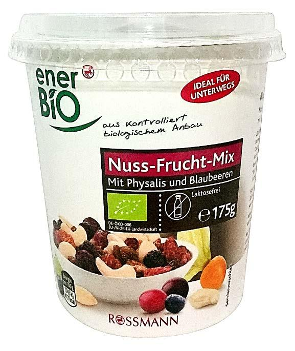 Clean Label claims: Organic, Natural, No Additives/Preservatives Ener Bio Nuss-Frucht-Mix Mit Physalis Und Blaubeeren: Nut-Fruit Mix With Physalis and Blueberries (Germany, Nov 2015) Claims/Features:
