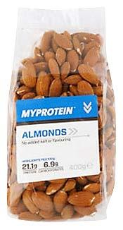 Myprotein Natural Nuts Whole Almonds Protein Snack (United Kingdom, Aug 2015) Description: These whole almonds are 100%