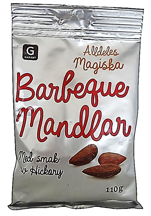 Flavors: Smoky and BBQ boosting taste Garant Barbeque Mandlar: Barbecue