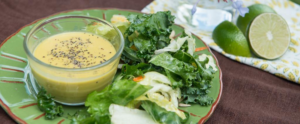 SAVORY CITRUS SALAD DRESSING So many people think salads are bland, boring lettuce piles with no personality that need heavy, fattening dressings to hide their distaste. No more!
