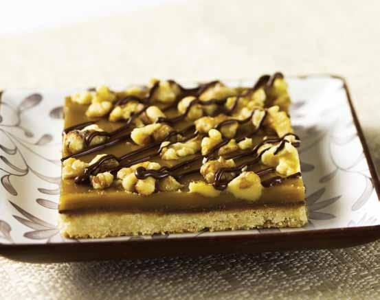 semi-sweet OR milk chocolate chips CARAMEL 3/4 cup butter OR margarine 1 cup brown sugar 1/3 cup Karo Light OR Dark Corn Syrup 1 teaspoon Spice Islands 100% Pure Bourbon Vanilla Extract 1/2 cup