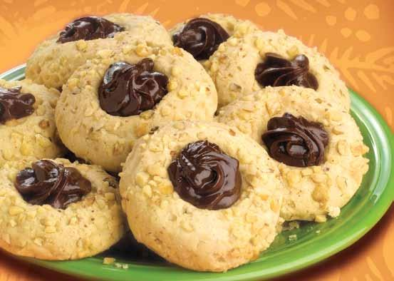 Chocolate Fudge Thumbprint Cookies A chocolatey treat that's sure to please.