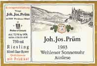 Joh. Jos. Prûm is, of course, one of the most highly regarded names in all of German winemaking and definitely one of the most recognized names here in the American market.