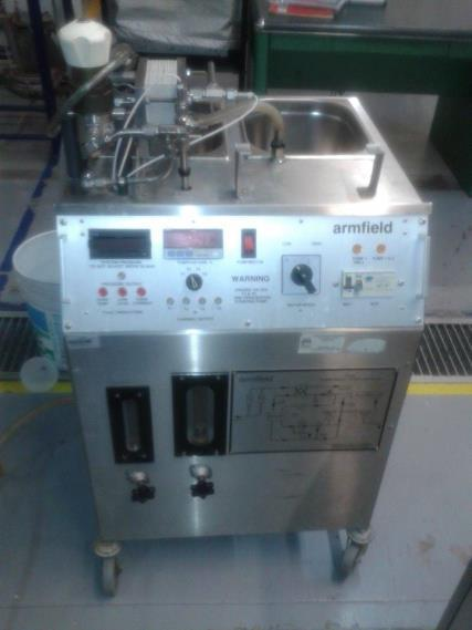 Unidad de Ultrafiltración/Ósmosis inversa RO/UF FT18 Armfield Clarification Subsequently the filtration system was used for ultrafiltration unit membranes / Reverse Osmosis RO / UF Armfield FT18 (see
