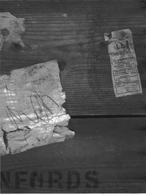 Picture Of Top Of Wooden Grape Packing Case Uncovered During Survey Work By