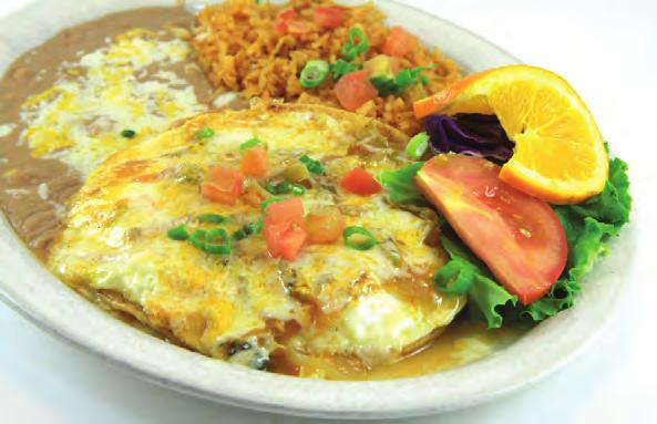 PLATILLOS DE HUEVOS Served with Beans, Rice and Warm Tortillas.