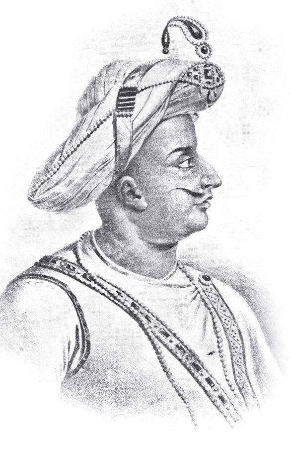 Tipu Sultan was the ruler of the Kingdom of Mysore from 1782 to 1799, a scholar, soldier and poet. He was the most powerful of the native Princes of India.
