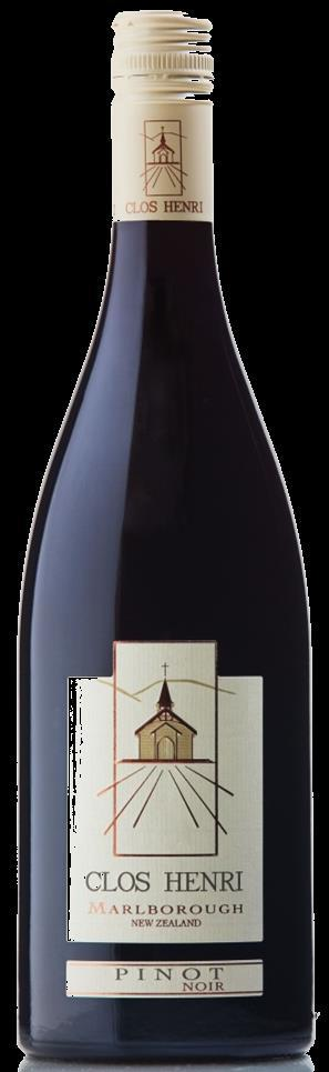 CLOS HENRI PINOT NOIR 2012 GROWN IN THE WAIRAU VALLEY OF MARLBOROUGH This luscious and savoury Pinot displays its rich, distinct style from our clay soils with velvety tannins and delicate touches of