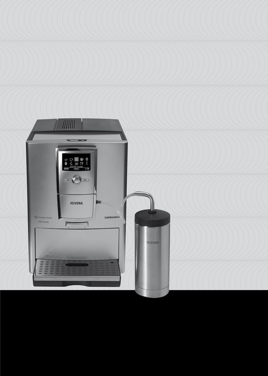 Equipment GB A B C D E Text display (main menu) Rotary control knob Button > Button exit Height-adjustable coffee spout CafeRomatica Fully automatic coffee centre Operating Instructions and Useful