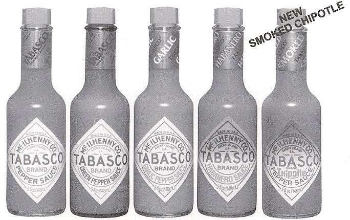 TABASCO FAMILY OF FLAVORS ORIGINAL PEPPER SAUCE GREEN PEPPER SAUCE GARLIC PEPPER SAUCE HABANERO SAUCE SAUCES-TABLE (Continued)-------------------------------------------------- 710511 12 5 OZ TABASCO