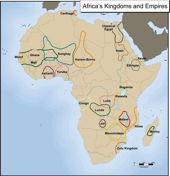 East African Coast and Southern Trading Centers By 1100, port cities on the east coast of Africa were