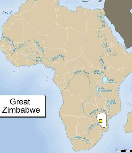 Great Zimbabwe Gold and ivory that enriched the coastal cities came from the interior of Southern Africa.