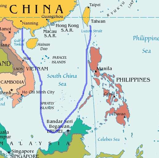 South China Sea and the lands of