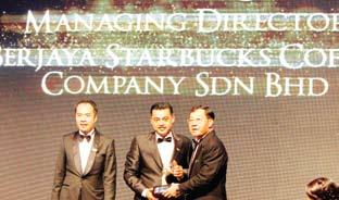 On 28 August 2014, Sydney Quays, Managing Director of Starbucks Malaysia and Brunei was awarded the Outstanding Entrepreneurship Award at the Asia Pacific Entrepreneurship Awards 2014 Ceremony & Gala