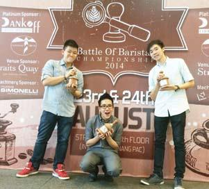Education BERJAYA UCH scores wins in Battle of Baristas Championship (BOBC) 2014 One student and two alumni of BERJAYA University College of Hospitality ( BERJAYA UCH ) won coveted trophies at the