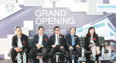 The opening of the new Maxspeed 3S Centre was officiated by Assistant Minister in Sabah Chief Minister Department, Yang Berhormat Datuk Ir Edward Yong Oui Fah.