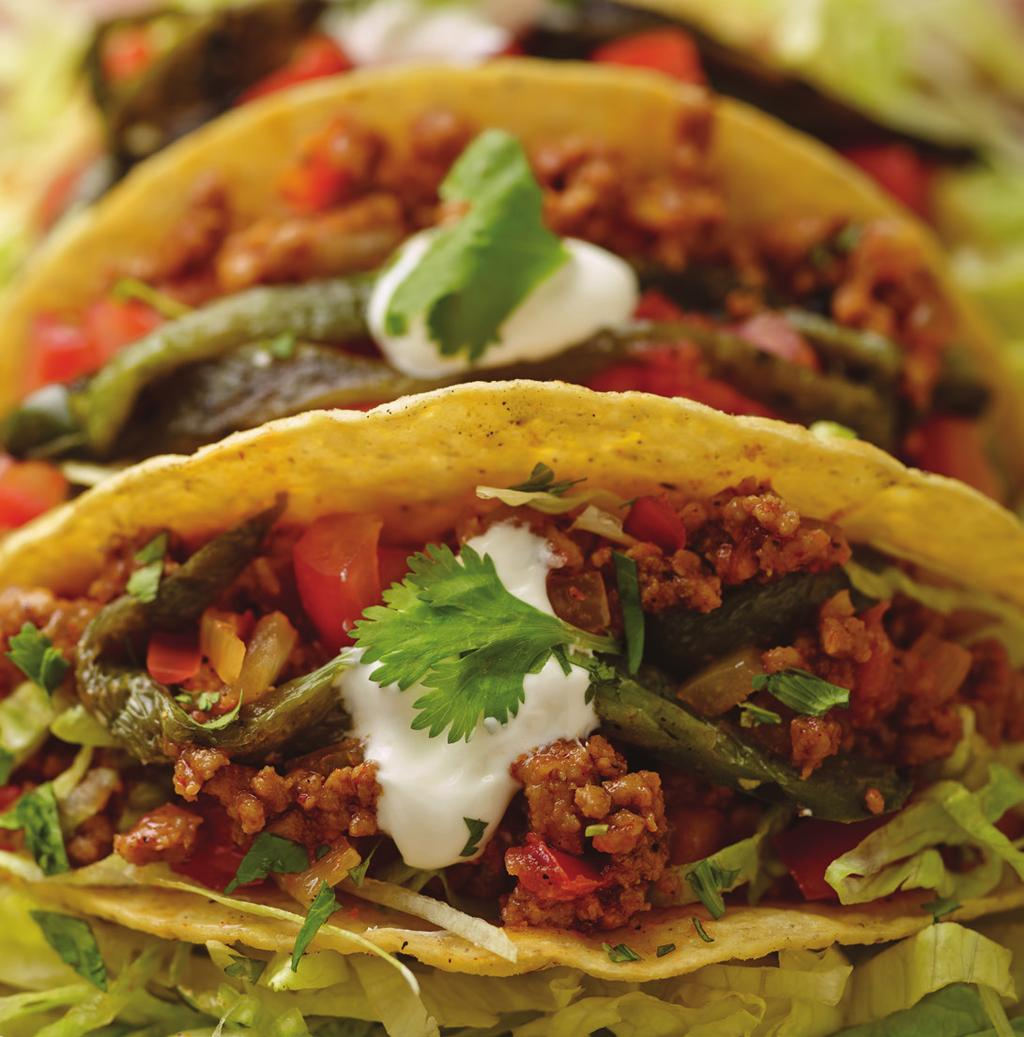 Southwestern Veal Tacos makes 4 servings - 2 tacos each 3 tablespoons Canola oil 1 pound Ground veal 1 tablespoon Chili powder 1 teaspoon Cumin powder 1 tablespoon Adobo spice 1/2 cup Onion, small