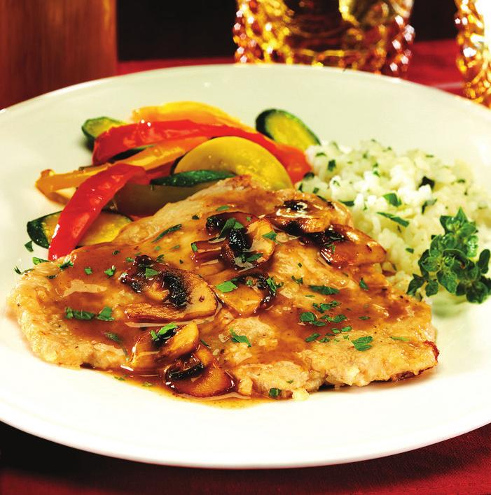Veal Marsala makes 4 servings 1 pound veal cutlets, cut 1/8 to 1/4 inch thick 1/4 cup all-purpose flour 1 teaspoon salt 1/4 teaspoon ground white pepper 2 tablespoons unsalted butter Sauce: 2