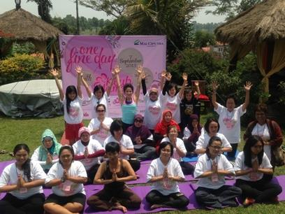This time the theme was Balance Your Body, Mind and Soul with Yoga.