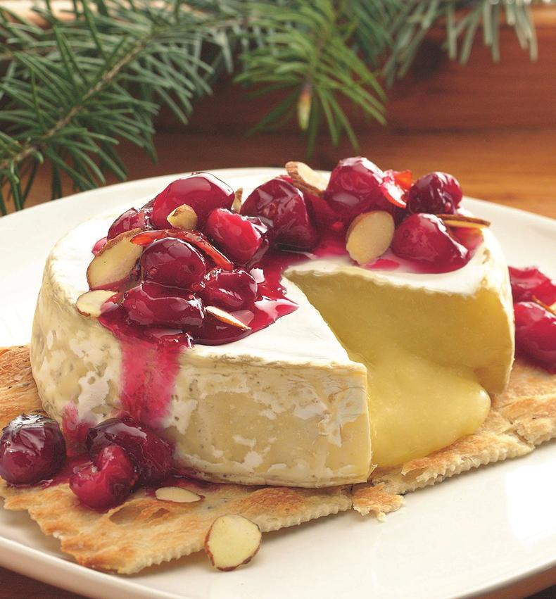 Cranberry- Topped Brie PREP TIME: 5 min TOTAL TIME: 5 min MAKES: servings Heat oven to 5 F. Place cheese on cookie sheet. Bake 0 to 5 minutes or until softened.
