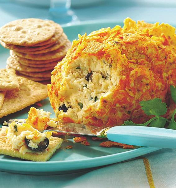 Pepper Jack Cheese Ball PREP TIME: 5 min TOTAL TIME: 5 min MAKES: 8 servings In food processor, place cheeses, lime juice and onion powder. Cover; process until well mixed. Spoon into medium bowl.