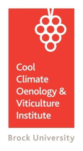 Cool Climate Oenology & Viticulture Institute Brock University Niagara Region 500 Glenridge Avenue St. Catharines, ON L2S 3A1 Canada T 905 688 5550 x4471 F 905 688 3104 brocku.