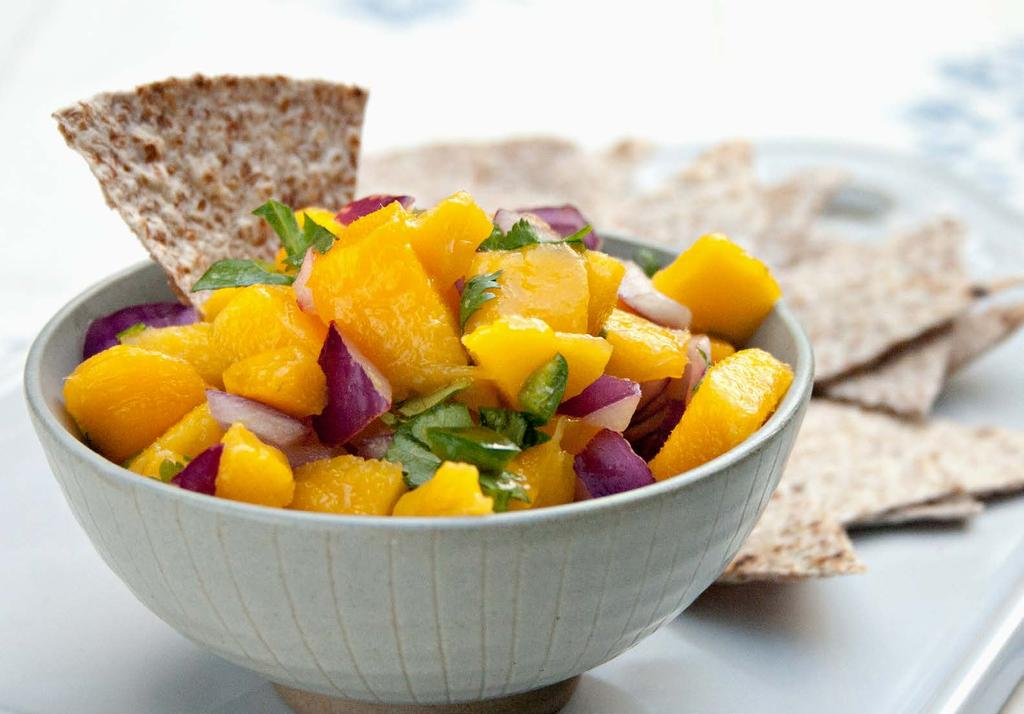 phase 1 Easy Mango Salsa Makes about 3 cups This quick fruity salsa is an easy way to perk up leftover chicken or turkey.