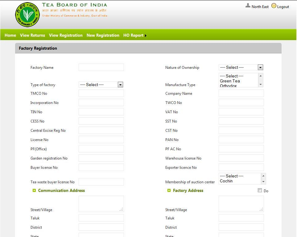 STEP -3 NEW REGISTRATION: Incase of new factories incorporated in a