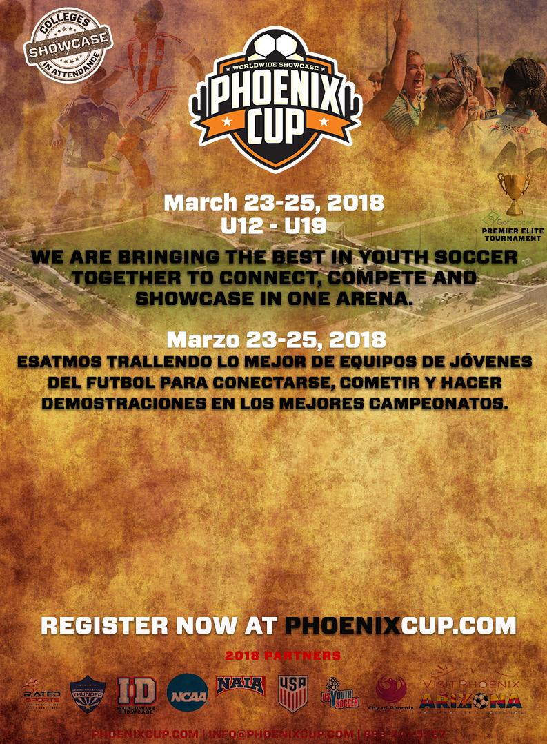 TOP TEAMS NATIONWIDE ALREADY COMMITTED FOR THE 2018 PHOENIX CUP.