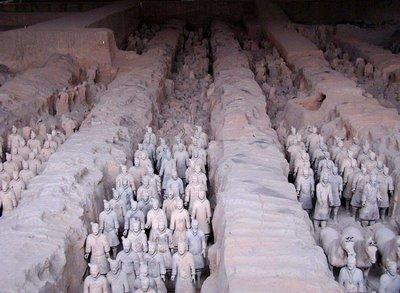 How would you compare Shih Huang Ti s use of the Terracotta warriors to the Ancient