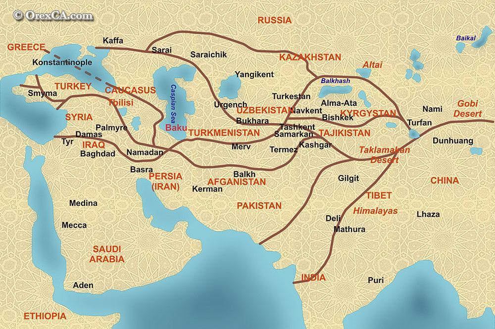 Consisted of many different routes Served as a link between china and the Middle East, as well as