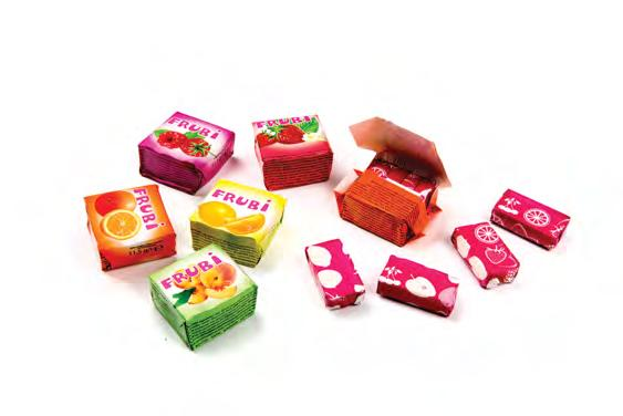 FRUBI CUBES available in 1, kg jar and in 1 kg bag cube, 4