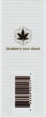Tags - Merchandising Digital Label Solutions Sacred Serum Blueberry Sour Diesel Achieving a visually appealing tag that resembled a foil embossed piece was a top challenge for