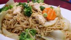 Noodles & Rice with Pork or Beef or Chicken ($12.50) with Prawns or Squid ($14.95) 44.