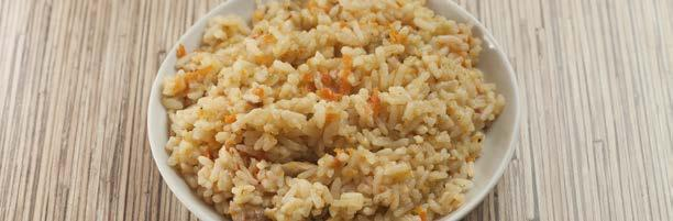 Carrot Brown Rice 50 77 2 tsp fresh thyme, or ½ tsp dried 1 tsp unsalted butter 1 cup carrots, grated 1 cup long-grain brown rice, rinsed and drained 2 ½ cups water Combine brown rice, water and salt