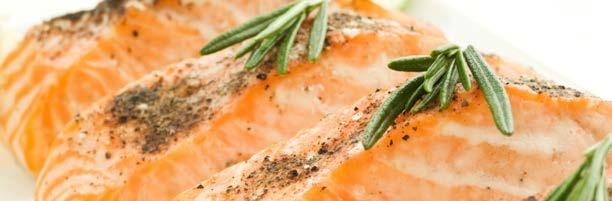 Rosemary Baked Salmon 370 ½ tsp pepper 2 cloves garlic, crushed 1 tbsp rosemary, crumbled, or 2 tbsp fresh, minced 1 ⅓ tbsp olive oil ⅔ cup seasoned breadcrumbs 1 ½ lb salmon ¼ tsp salt Preheat oven