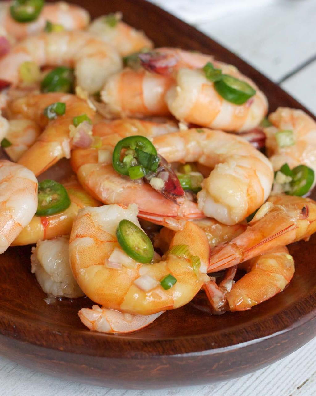 Asian Marinated Shrimp SERVES 6 This shrimp makes a perfect appetizer for entertaining guests.