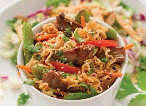 Beef & Noodle Stir-Fry 2 tablespoons vegetable oil 1½ pounds boneless beef sirloin steak, thinly sliced 1 red bell pepper, thinly sliced 1 cup matchstick carrots 1 teaspoon Seasoned Salt ½ cup Hey