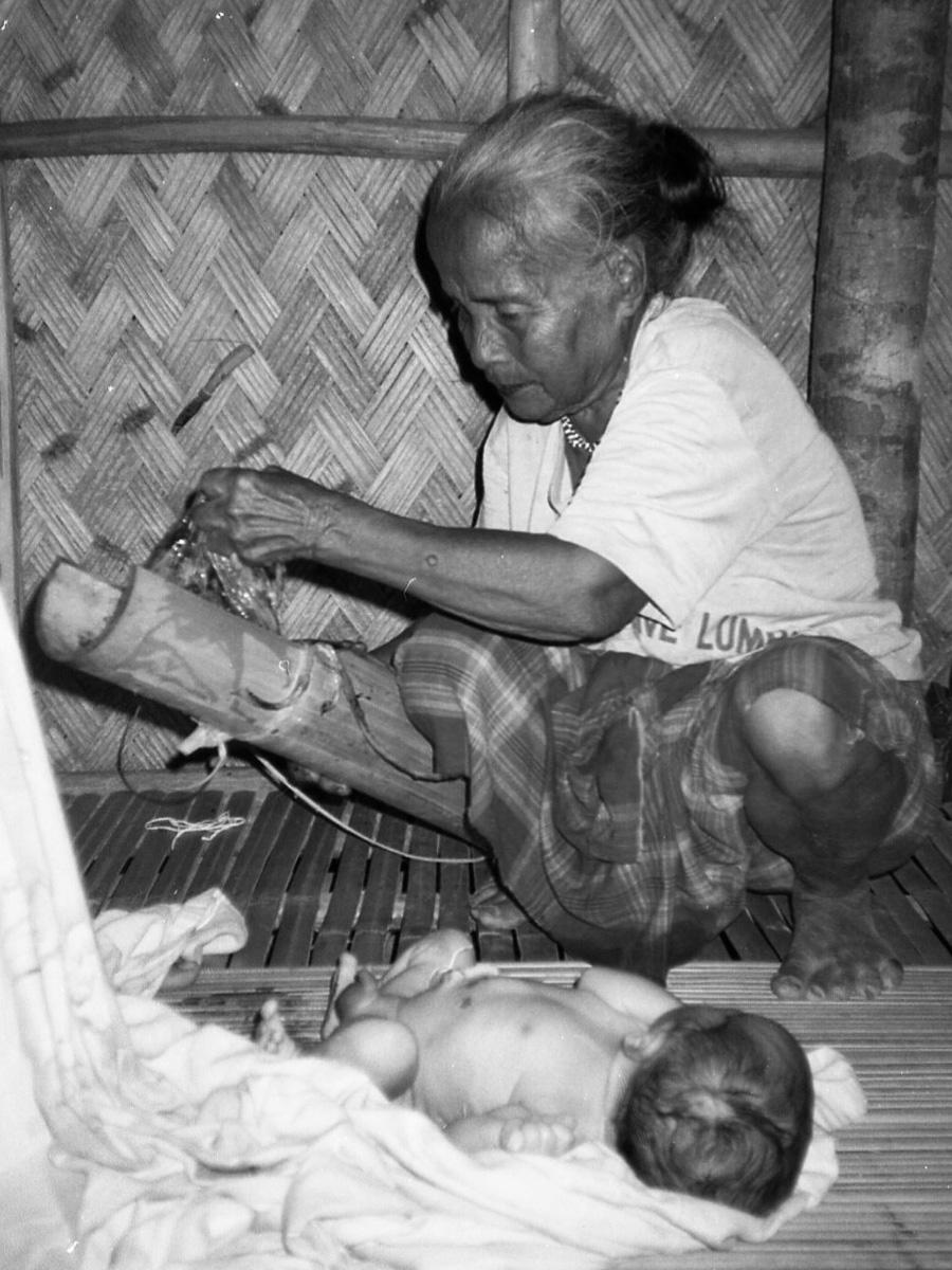 Traditional healers 103 is also the most well known mengengpet or woman who assists in childbirth.