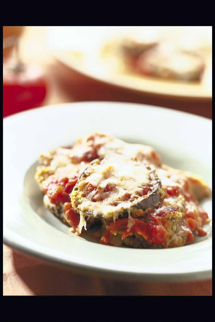 Mediterranean Eggplant Casserole Eggplant Parmesan is traditionally made by breading eggplant and frying it in a great deal of oil.