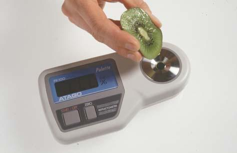 Test by REFRACTOMETER Measurement e.g.