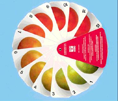 Determination of SKIN COLOUR by OECD colour gauges The colour of fruit skin is a good indicator