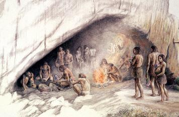 ability to work together helped even more. Neanderthals lived and traveled in groups. And they were the first early hominids to hunt in an organized group.