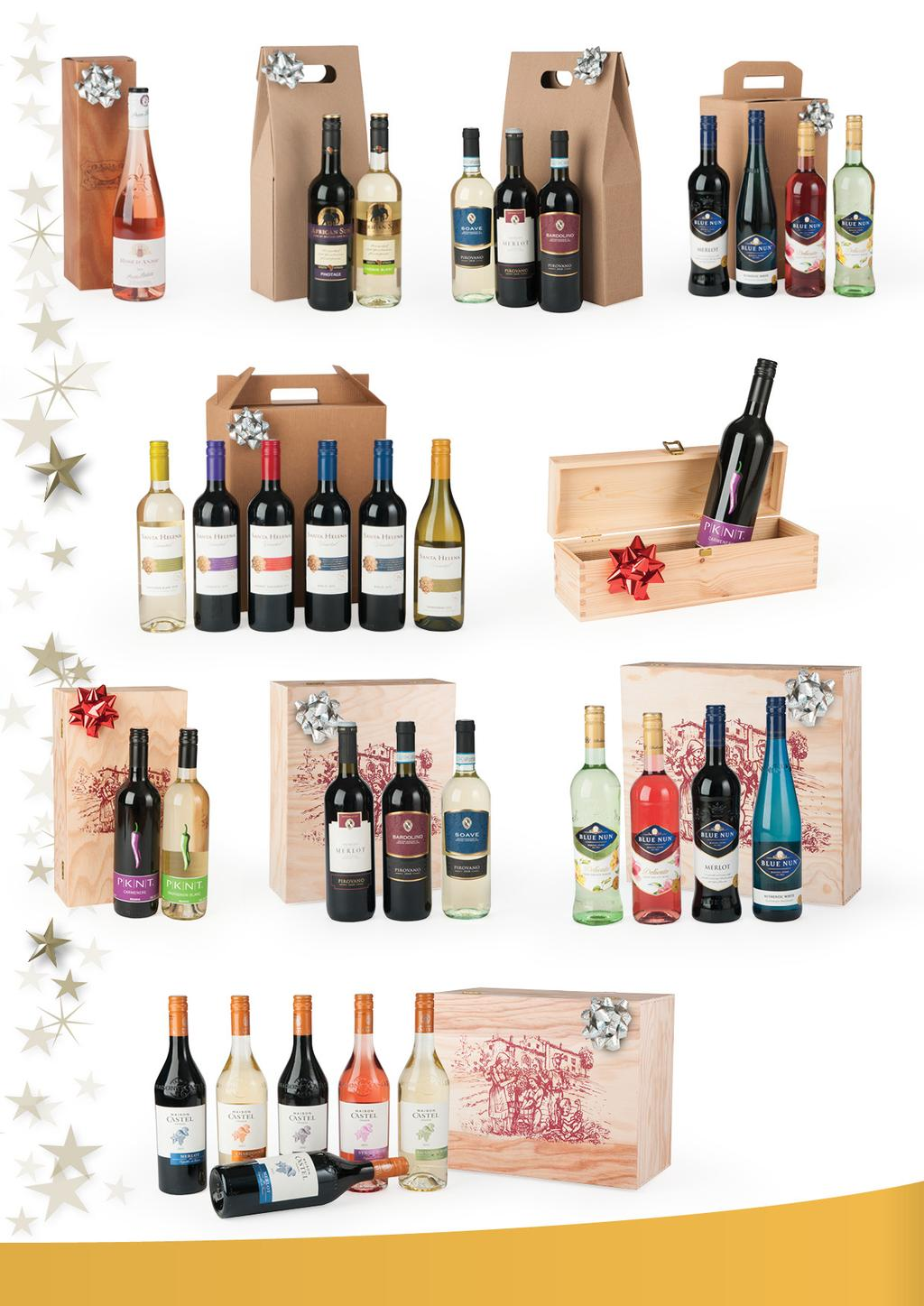 6.00 9.50 15.00 24.50 020 021 022 Wines in Carton Gift Packs 023 28.00 12.