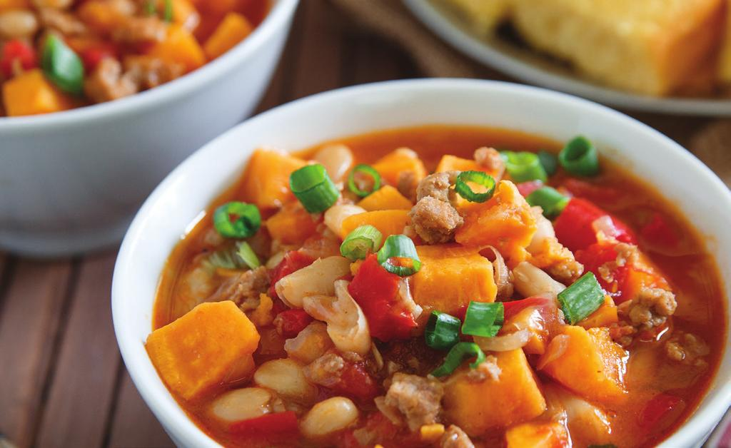 BUDGET FRIENDLY RECIPES Turkey and Sweet Potato Chili Serves 6. Prep time: 25 minutes active; 55 minutes total.